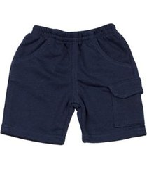 shorts bebê moletinho essencial 3 bolsos ano zero masculino