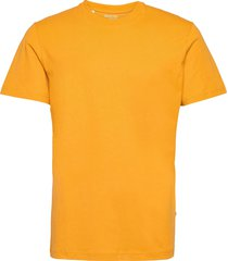 slhnorman180 ss o-neck tee s t-shirts short-sleeved brun selected homme
