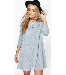 plus swing dress, grey marl