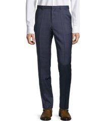 hugo hugo boss men's plaid wool pants - navy - size 32
