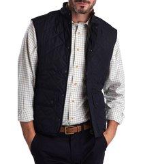 men's barbour lowerdale quilted vest, size xx-large - blue