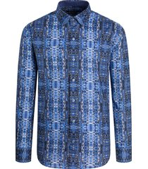 men's bugatchi classic fit abstract print button-up shirt