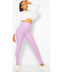 textured fitted legging, lilac