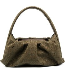 themoirè hera cork tote bag - green
