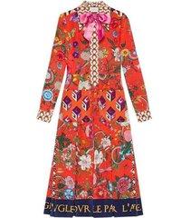 patchwork print jurk