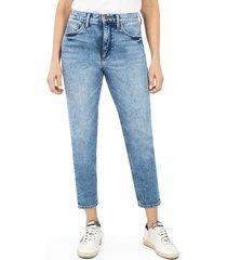 women's whetherly pierce high waist straight leg ankle jeans