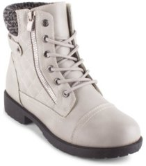 wanted quinn women's quilted combat booties women's shoes