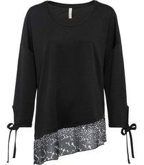 maglia a maniche lunghe con fiocco (nero) - bodyflirt boutique