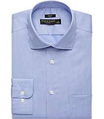 pronto uomo blue stripe slim fit dress shirt
