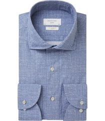 mouwlengte 7 overhemd profuomo blauw melange