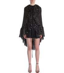 saint laurent ruffled cape