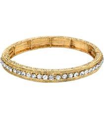 downton abbey round crystals stretch bracelet