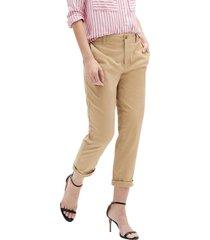 pantalon girlfriend khaki beige gap