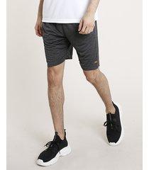 bermuda masculina esportiva ace básica com bolsos chumbo