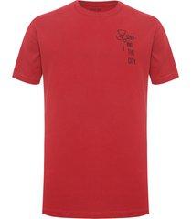 t-shirt masculina color minimal - vermelho