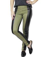 calça legging it shop militar verde e preto
