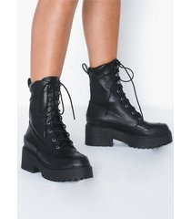 nly shoes united chunky boot flat boots
