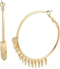 jessica simpson heart charm hoop earrings