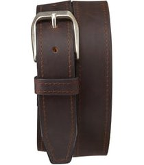men's trask darby leather belt, size 32 - brown