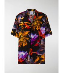 marcelo burlon county of milan graphic flowers print shirt