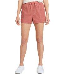 women's dickies contrast stitch pull on shorts, size medium - orange