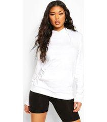 kangaroo pocket hoodie, white