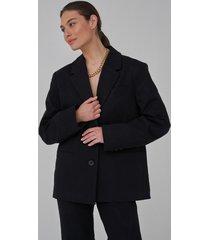 josefine hj x na-kd gjord av tvill oversize blazer - black