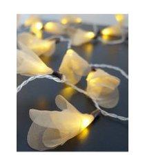 cordáo de luz - luz de fada organza dourada luz fixa 127v