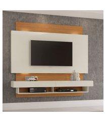painel para tv até 65 polegadas hamilton com led off white e freijó