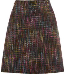 coloured tweed mini skirt