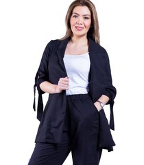 blazer de lino negro bellisima
