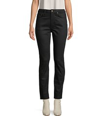 zip-fly ankle-length jeans