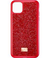 custodia per smartphone glam rock, iphoneâ® 11 pro max, rosso