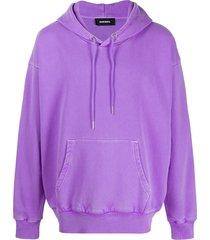 diesel vintage wash hoodie - purple