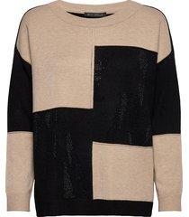 knitted pullover short 1/1 sle gebreide trui bruin betty barclay
