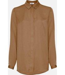 moss copenhagen blair seasonal polysilk shirt ecru