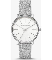 mk orologio pyper tonalità argento decorato con cristalli swarovski® - bianco (bianco) - michael kors