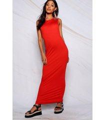 drop arm hole maxi dress, orange