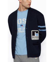 boss x russell athletic unisex relaxed-fit cardigan