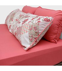 conjunto de lençol queen pertutty 100 porcento algodão fios nobre