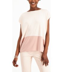 alfani petite sleeveless colorblock top, created for macy's
