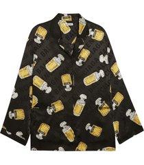 silk perfume bottle pajama shirt
