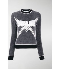 off-white knitted logo top