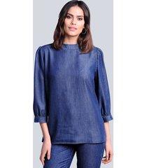 blouse alba moda dark blue