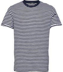 jprblabeach ss tee stripe t-shirts short-sleeved svart jack & j s