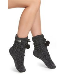 women's ugg pompom fleece lined socks, size one size - grey