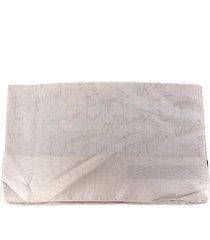 emporio armani pearl grey modal scarf