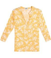 blusa mujer amarilla flores