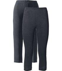 leggings capri elasticizzati (pacco da 2) (nero) - bpc bonprix collection