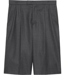 gucci tailored bermuda shorts - grey
